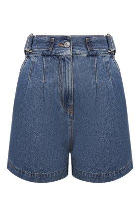 Женские джинсовые шорты MSGM синего цвета, арт. 3041MDB42L 217280   Фото 1