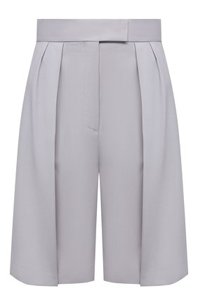 Женские шерстяные шорты MSGM светло-серого цвета, арт. 3041MDB04 217113 | Фото 1