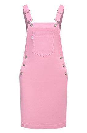 Женский джинсовый комбинезон MSGM светло-розового цвета, арт. 3041MDA44T 217279 | Фото 1