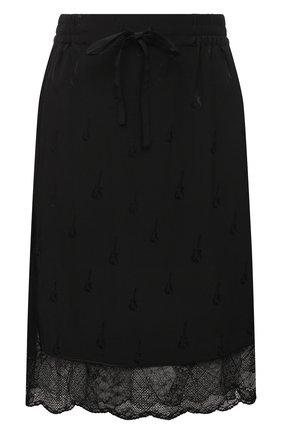 Женская шелковая юбка ZADIG&VOLTAIRE черного цвета, арт. PWGCP0301F   Фото 1