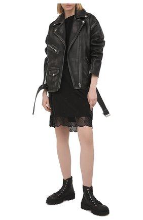 Женская шелковая юбка ZADIG&VOLTAIRE черного цвета, арт. PWGCP0301F   Фото 2