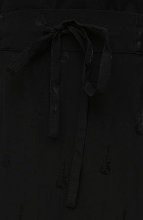 Женская шелковая юбка ZADIG&VOLTAIRE черного цвета, арт. PWGCP0301F   Фото 5