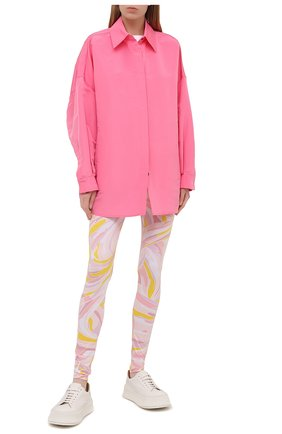 Женские леггинсы EMILIO PUCCI розового цвета, арт. 1EWX05/1E797 | Фото 2