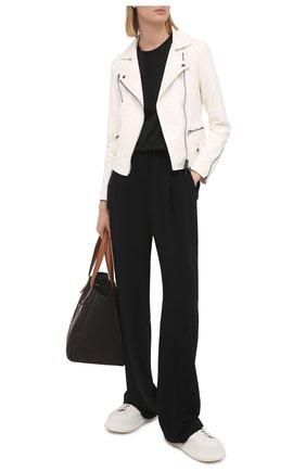 Женская кожаная куртка SIMONETTA RAVIZZA белого цвета, арт. S01JA02L1/114 | Фото 2