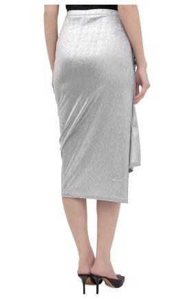 Женская юбка из вискозы PACO RABANNE серебряного цвета, арт. 20PJJU007VI0222 | Фото 4