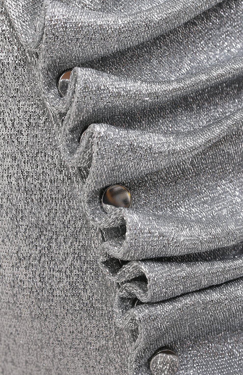 Женская юбка из вискозы PACO RABANNE серебряного цвета, арт. 20PJJU007VI0222 | Фото 5