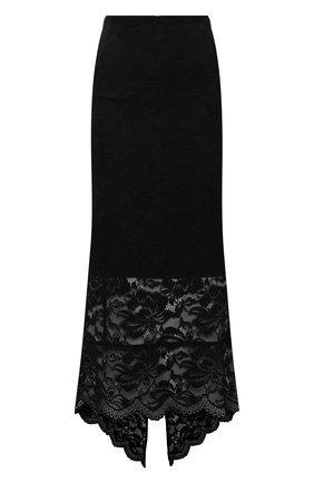Женская юбка PACO RABANNE черного цвета, арт. 20HJJU167PA0170 | Фото 1