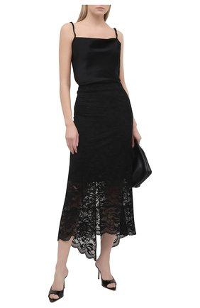 Женская юбка PACO RABANNE черного цвета, арт. 20HJJU167PA0170 | Фото 2
