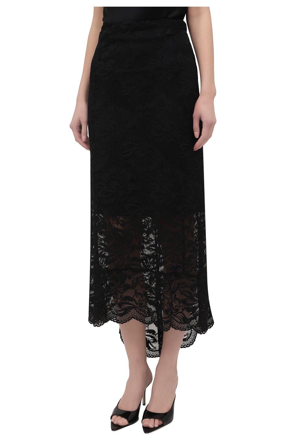 Женская юбка PACO RABANNE черного цвета, арт. 20HJJU167PA0170 | Фото 3