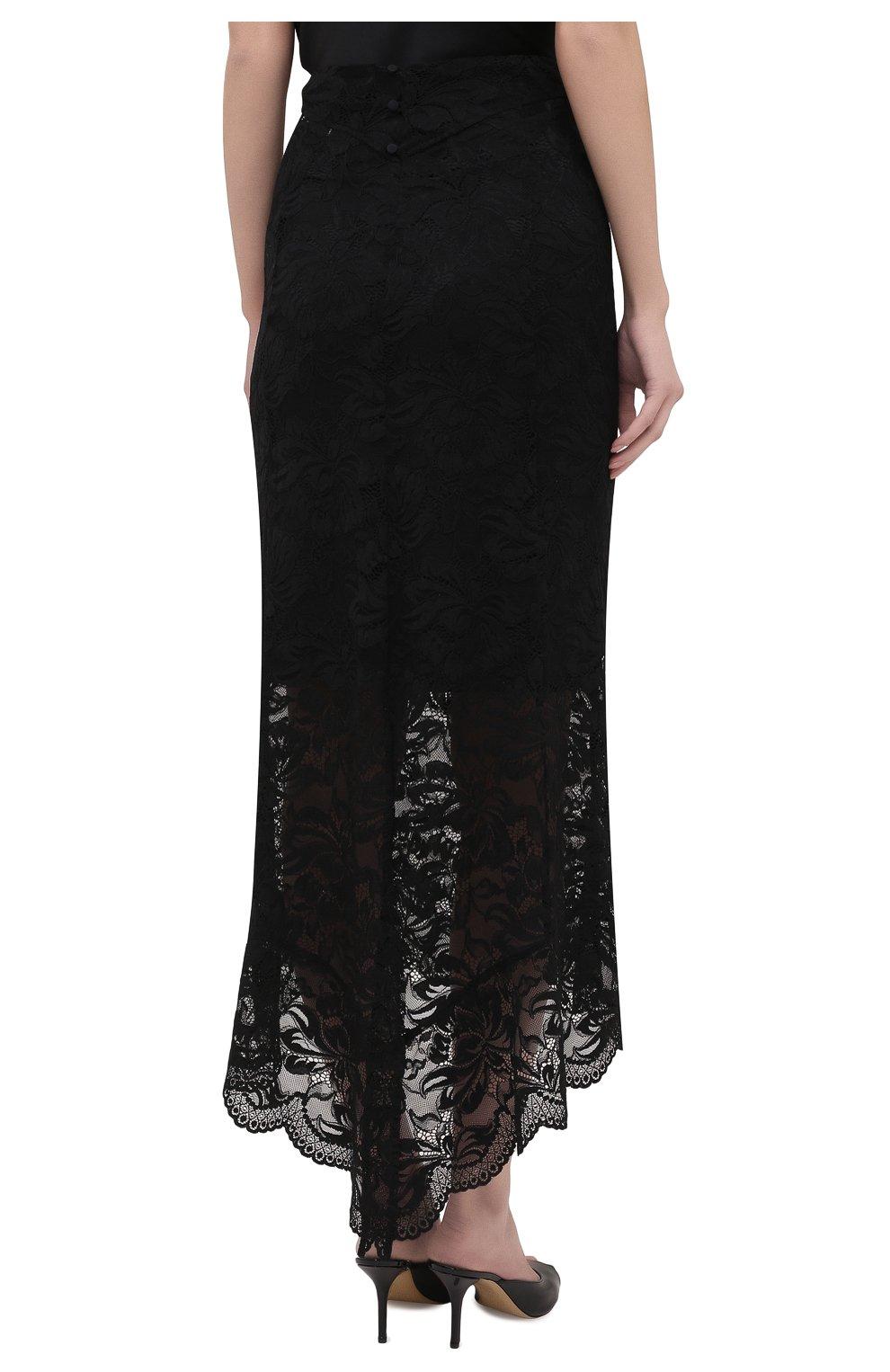 Женская юбка PACO RABANNE черного цвета, арт. 20HJJU167PA0170 | Фото 4