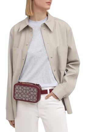 Женская поясная сумка alie COACH бордового цвета, арт. 4813 | Фото 2