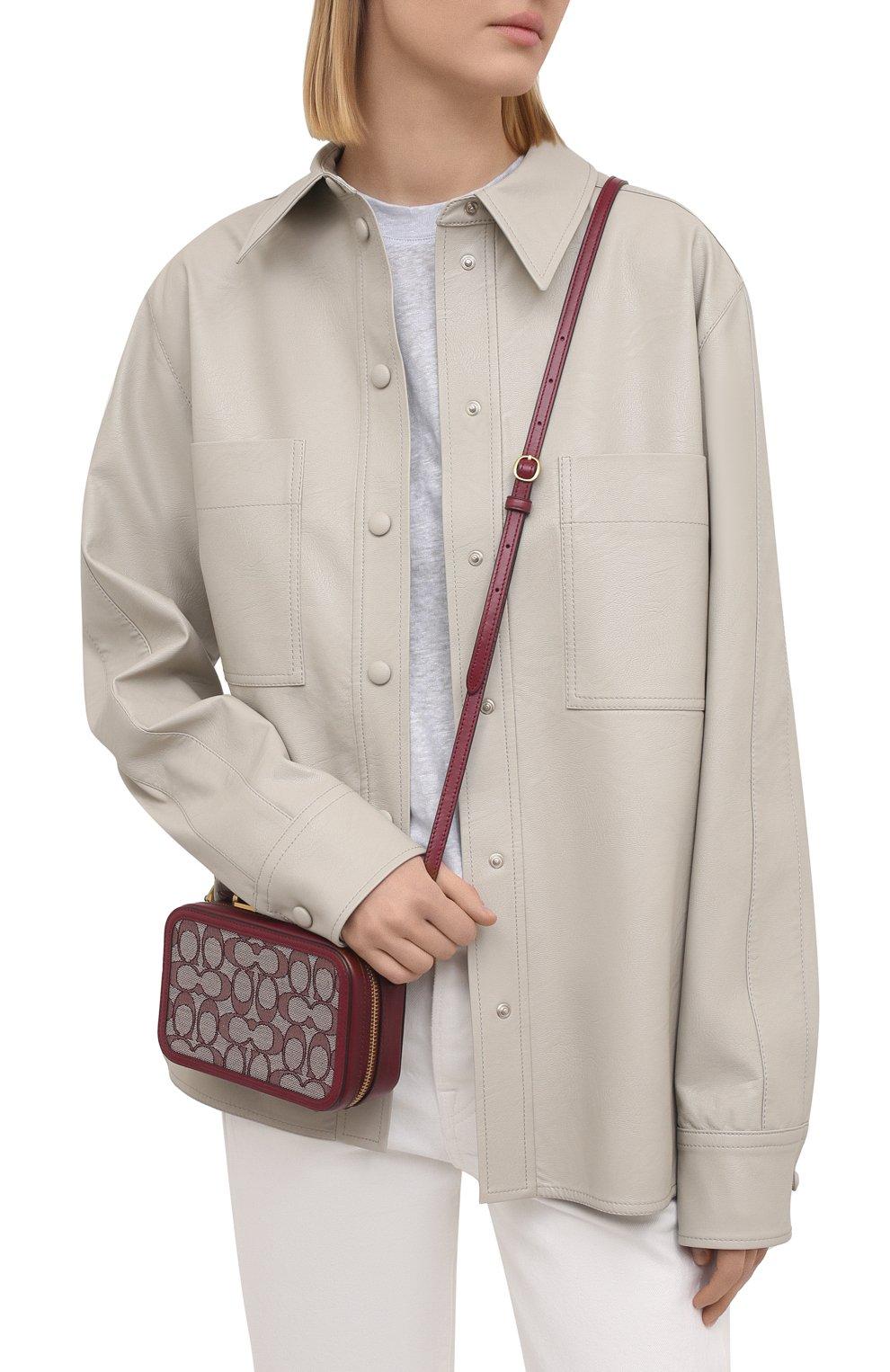 Женская поясная сумка alie COACH бордового цвета, арт. 4813 | Фото 6