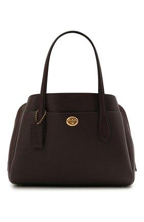 Женская сумка lora COACH бордового цвета, арт. 91740   Фото 1