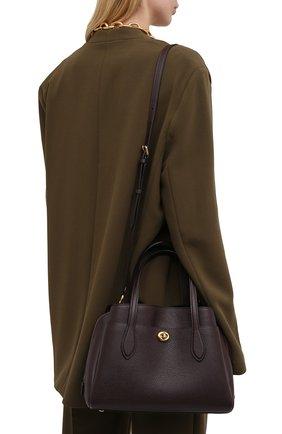 Женская сумка lora COACH бордового цвета, арт. 91740   Фото 2