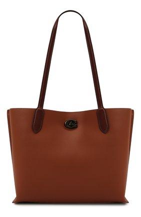 Женский сумка-тоут willow COACH коричневого цвета, арт. C0692   Фото 1
