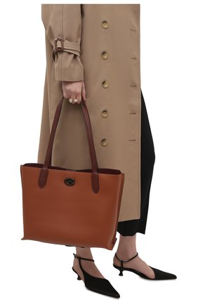 Женский сумка-тоут willow COACH коричневого цвета, арт. C0692   Фото 2