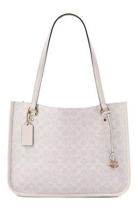 Женский сумка-тоут tyler COACH белого цвета, арт. C2591   Фото 1