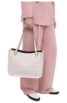 Женский сумка-тоут tyler COACH белого цвета, арт. C2591   Фото 2