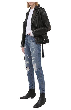 Женские джинсы DOLCE & GABBANA синего цвета, арт. FTBXGD/GDZ32 | Фото 2