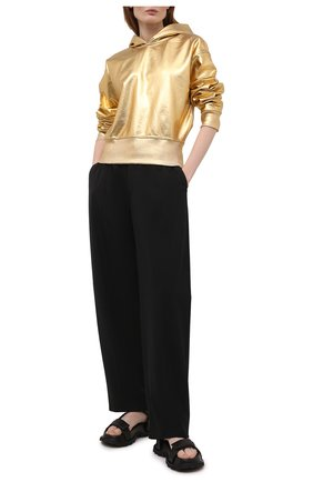 Женский хлопковое худи VALENTINO золотого цвета, арт. VB3MF09F6A2 | Фото 2