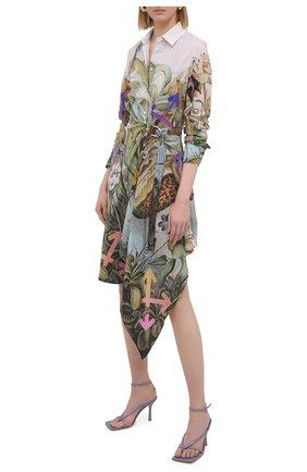 Женское шелковое платье OFF-WHITE разноцветного цвета, арт. 0WDB325S21FAB005 | Фото 2
