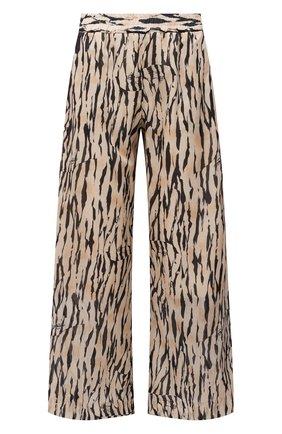 Женские хлопковые брюки MAX&MOI бежевого цвета, арт. E21BILANA | Фото 1