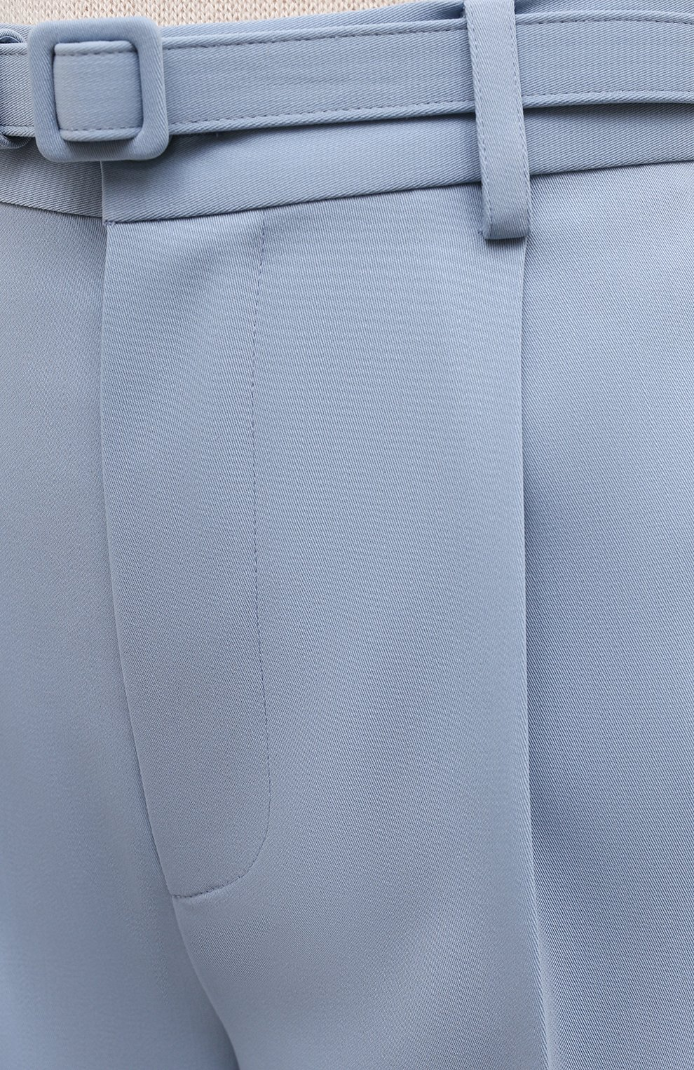 Женские шерстяные шорты RALPH LAUREN светло-голубого цвета, арт. 290842607 | Фото 5 (Женское Кросс-КТ: Шорты-одежда; Материал внешний: Шерсть; Длина Ж (юбки, платья, шорты): Мини; Кросс-КТ: Широкие; Стили: Романтичный)