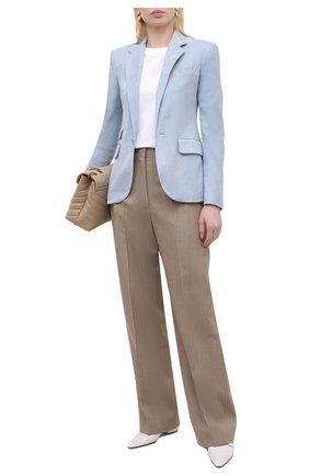 Женский замшевый жакет RALPH LAUREN светло-голубого цвета, арт. 290840404 | Фото 2
