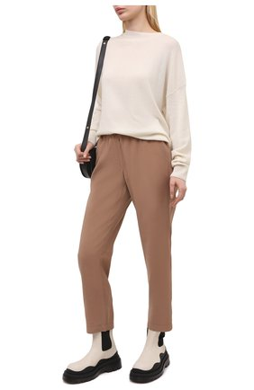 Женские брюки из вискозы PIETRO BRUNELLI бежевого цвета, арт. PN0191/VI0078 | Фото 2