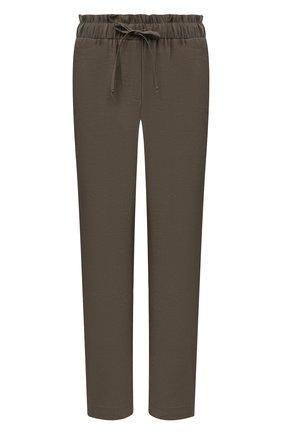 Женские брюки из вискозы PIETRO BRUNELLI хаки цвета, арт. PN0191/VI0078 | Фото 1