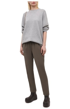 Женские брюки из вискозы PIETRO BRUNELLI хаки цвета, арт. PN0191/VI0078 | Фото 2