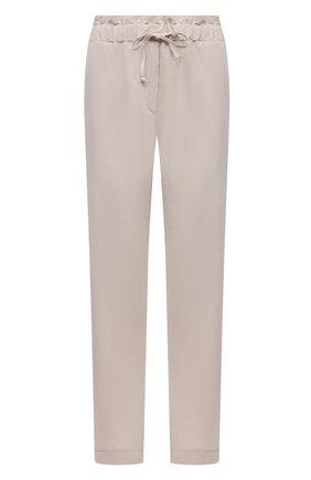 Женские брюки из вискозы и льна PIETRO BRUNELLI светло-бежевого цвета, арт. PN0191/LI0017 | Фото 1