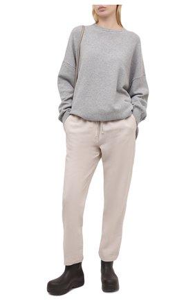 Женские брюки из вискозы и льна PIETRO BRUNELLI светло-бежевого цвета, арт. PN0191/LI0017 | Фото 2