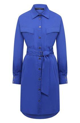 Женское хлопковое платье PIETRO BRUNELLI синего цвета, арт. AM0073/C0P319 | Фото 1
