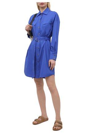 Женское хлопковое платье PIETRO BRUNELLI синего цвета, арт. AM0073/C0P319 | Фото 2