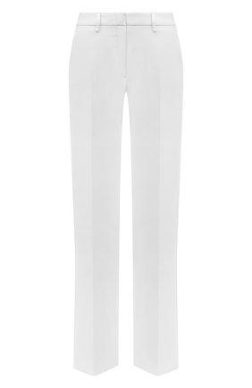 Женские льняные брюки KITON белого цвета, арт. D47105K01057   Фото 1