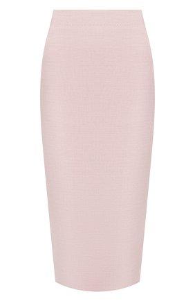 Женская шерстяная юбка KITON светло-розового цвета, арт. D19209K09T26 | Фото 1