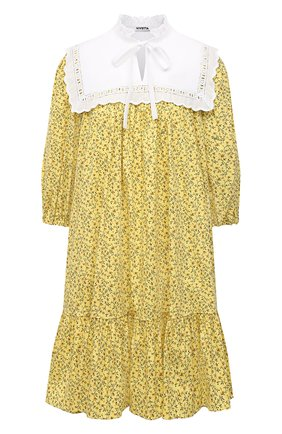 Женское хлопковое платье VIVETTA желтого цвета, арт. 21E V2M0/H081/0101 | Фото 1
