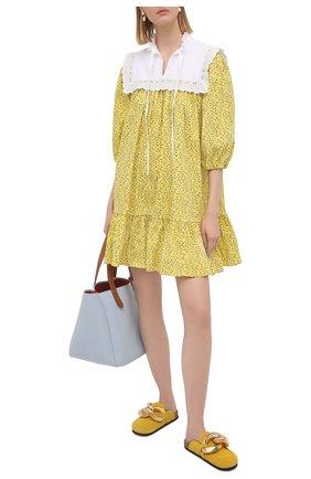 Женское хлопковое платье VIVETTA желтого цвета, арт. 21E V2M0/H081/0101 | Фото 2