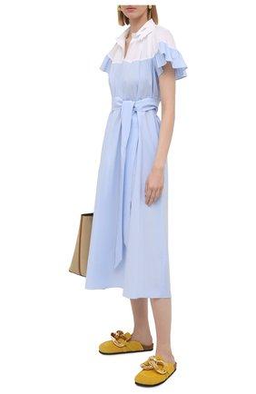 Женское хлопковое платье VIVETTA светло-голубого цвета, арт. 21E V2M0/H071/0650 | Фото 2