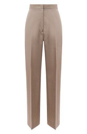 Женские шерстяные брюки JIL SANDER бежевого цвета, арт. JSPS300505-WS202600 | Фото 1 (Материал внешний: Шерсть; Длина (брюки, джинсы): Стандартные; Женское Кросс-КТ: Брюки-одежда; Силуэт Ж (брюки и джинсы): Широкие; Стили: Минимализм)