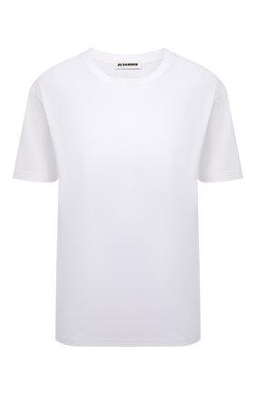 Женская хлопковая футболка JIL SANDER белого цвета, арт. JSPS705002-WS247608 | Фото 1