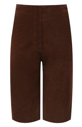 Женские замшевые шорты TOTÊME коричневого цвета, арт. 212-201-730 | Фото 1
