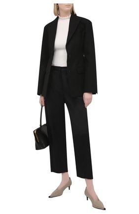 Женские брюки из вискозы TOTÊME черного цвета, арт. 212-252-714   Фото 2