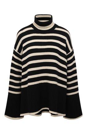 Женский свитер из шерсти и хлопка TOTÊME черно-белого цвета, арт. 212-562-758 | Фото 1
