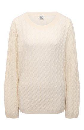 Женский кашемировый пуловер TOTÊME светло-бежевого цвета, арт. 212-569-751 | Фото 1