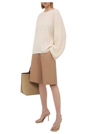 Женский кашемировый пуловер TOTÊME светло-бежевого цвета, арт. 212-569-751 | Фото 2