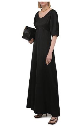 Женское платье из вискозы TOTÊME черного цвета, арт. 212-607-700   Фото 2