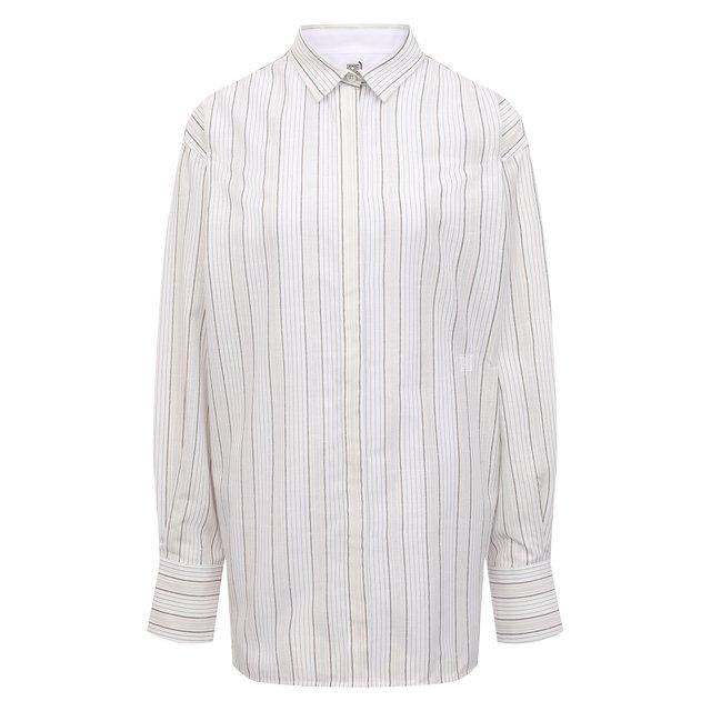 Рубашка из вискозы и хлопка Totême