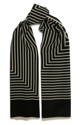 Женский шелковый платок TOTÊME черного цвета, арт. 212-870-802   Фото 1